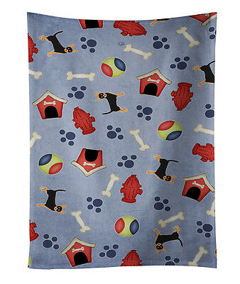 Dog House Collection Black Tan Chihuahua Kitchen Towel