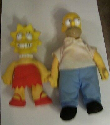 lot of 4 The Simpsons Dolls