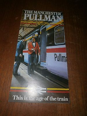 British Rail InterCity leaflet-The Manchester Pullman 1984
