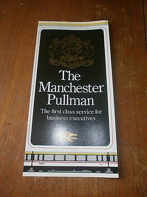 British Rail InterCity leaflet-The Manchester Pullman 1980s