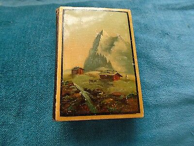 Needle case with alpine scenes  c 1860