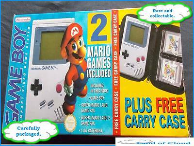 Gameboy Super Mario Limited Edition set - DMG-01 console 2 games and carry case
