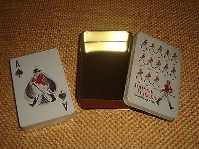 JOHNNIE WALKER original playing cards sealed in tin made in Greece
