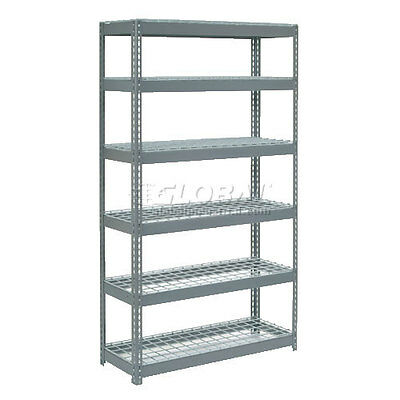 "Extra Heavy Duty Shelving 48""W x 18""D x 96""H With 6 Shelves, Wire Deck"