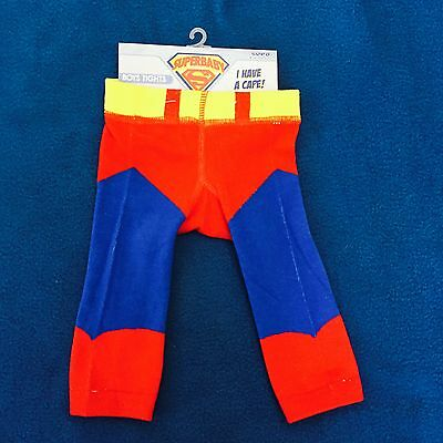 Superbaby Superman Tights Detachable Cape Baby Boy Size 0 00 Hero Pants