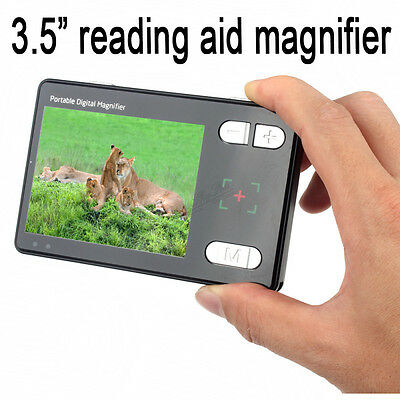 "3.5"" Color Screen Portable Low Vision Reading Aid 24x Electronic Video W13"