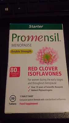 Promensil Menopause Double Strength Red Clover Isoflavones 80mg - 90 Tablets,new