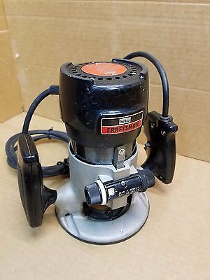 Vintage Craftsman Router No. 315.17480 1 HP, 6.5 A with Light and Depth Gauge