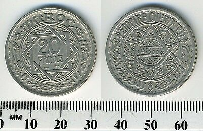 Morocco 1946 (1366) - 20 Francs Copper-Nickel Coin - Mohammed V