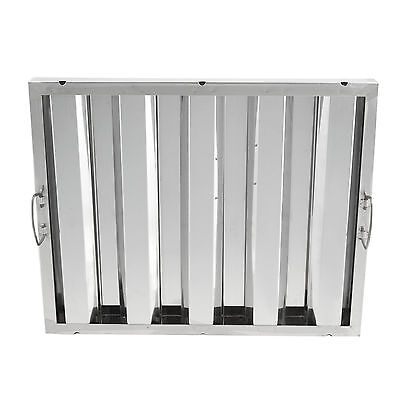 """16"""" x 20"""" Stainless Steel Hood Grease Commercial Exhaust Filter Baffle Kitchen"""