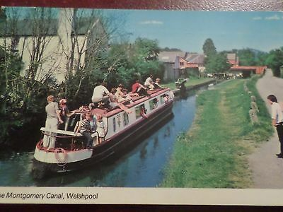 "1985 Postcard ""Linnet"" on the Montgomery Canal Welshpool"