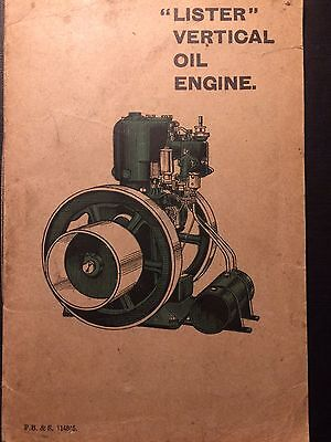 Early Lister Oil Engine Instruction Book