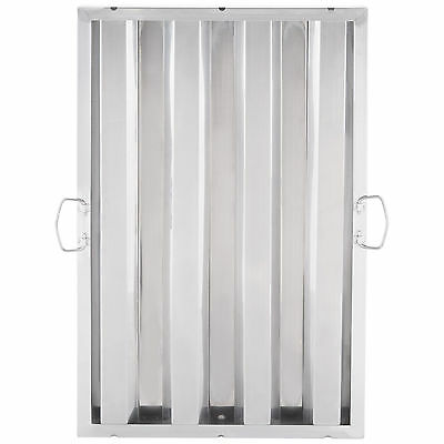 """25"""" x 16"""" Stainless Steel Hood Grease Commercial Exhaust Filter Baffle Kitchen"""