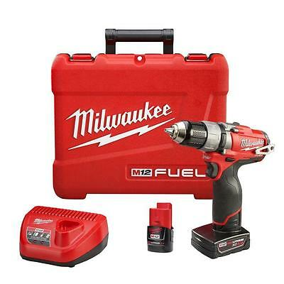 """Milwaukee 2403-22 M12 FUEL 12V 1/2"""" Inch Drill Driver Kit CLEARANCE!!!"""
