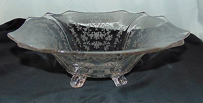 """Cambridge DIANE CRYSTAL *12"""" SQUARE* 4 FOOTED* BOWL* 3400/4*"""