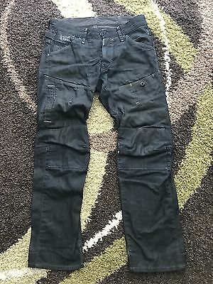 Preowned G-star Mens Tapered Jeans R 33/01 Size 30 Length 31