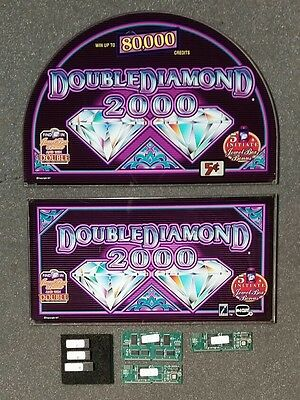 "IGT 17"" I-Game Slot Machine DOUBLE DIAMOND 2000 Round Top Glass Set w/ Software"