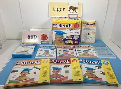 Your Baby Can Read Program Reading Steps 1, 2, 3 Interactive Videos Cards Books