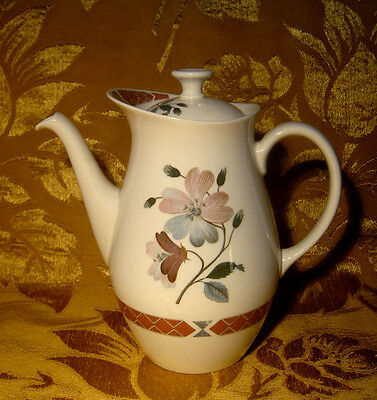 "Wedgwood ""albany"" Coffee Pot Floral Made In England"