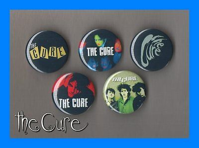 The Cure - Robert Smith  5 X 31 mm Button Badges Set 1