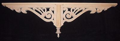 "Victorian Wood Gingerbread Trim { 37"" x 11"" } Drop Pendant Bracket #56P ~ by PLD"