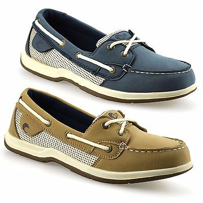 Ladies Womens New Memory Foam Loafers Casual Walking Trainers Boat Shoes Size