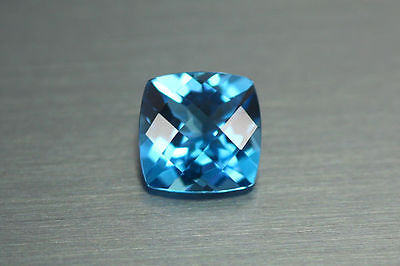 2.620Ct Very Rare Unique Top Hot Rich Sparking Nr!! Swiss Blue Topaz Earth Mine
