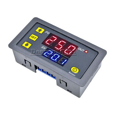 12V Digital LED Dual Display Cycle Timing Delay Timer Relay Module 0-999 Hours
