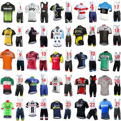 25 Style! 2017 Full Zipper New cycling jersey and bib shorts Race Fit GEL padded