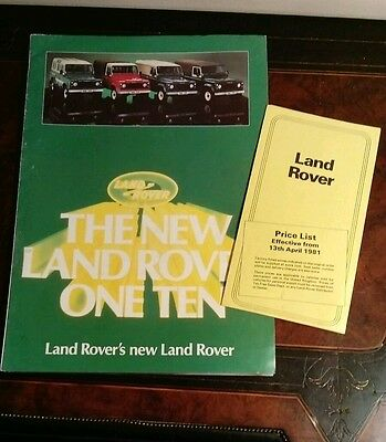 The New Land Rover One Ten Brochure & Price List 13th April 1981
