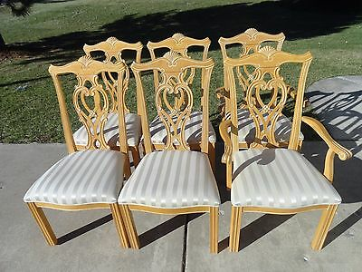 Vintage Dining Table with 6 Chairs