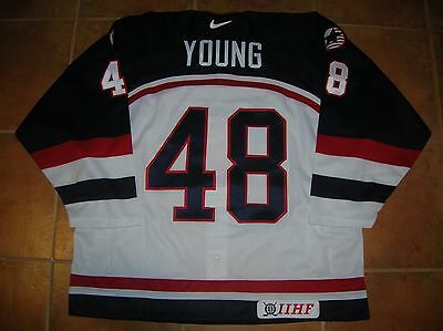 VINTAGE #48 Scott YOUNG Team USA Official IIHF NIKE Jersey, Men's 56/XXL, NWT!