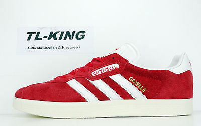 Adidas Originals Gazelle Super Red Vintage White Gold Metallic BB5242 $100 2b