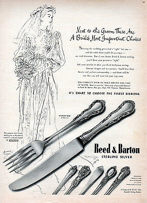 1947 Reed & Barton Sterling Silver ad ---k521