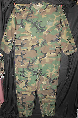Us Military Style Bdu Woodland Camo Coveralls Jumpsuit Hunter Pilot Mechanic
