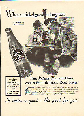 1938 Hires Root Beer ad R-J --Real Root Juices--/923