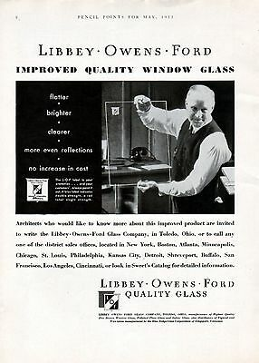 1933 Libbey-Owens-Ford Window Glass Ad --Flatter, Clearer ----v7