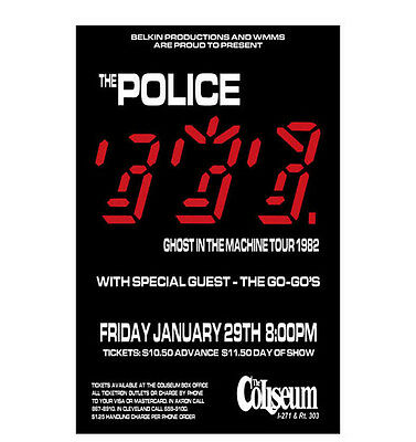 The Police 1982 Cleveland Concert Poster