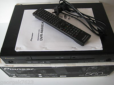 Pioneer DVR-560 DVD / HDD video recorder - 160gb - in box with remote + manual