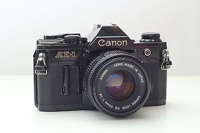 Canon AE-1 Black 50mm 1.8  (Working Good Condition)