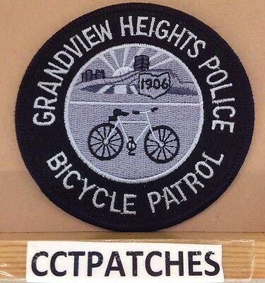 Grandview Heights, Ohio Police Bicycle Patrol Subdued Shoulder Patch Oh