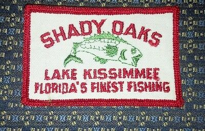 SHADY OAKS LAKE KISSIMMEE FISHING Sew-On Patch