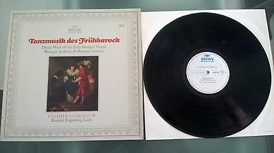 DANCE MUSIC OF THE EARLY BAROQUE PERIOD vinyl LP 33rpm Archiv 2533 150