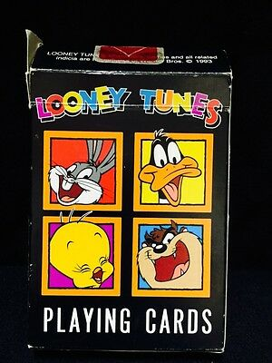 Looney Tunes Bugs Bunny TAZ Daffy Duck Tweety Bird Playing Cards Collectable
