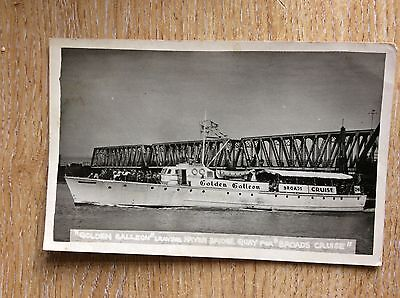 U1-3 postcard used 1960s rp the golden galleon haven bridge quay broads