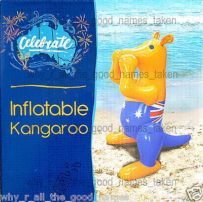 Celebrate Australia Day Aussie Flag INFLATABLE KANGAROO Kids Beach or Pool Fun