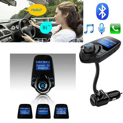 T10 Bluetooth 3.0 Car Kit Wireless FM Transmitter USB Charger Audio MP3 Player