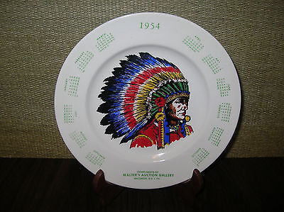 """1954  Advertising  Calendar  Plate  """"walter's  Auction  Gallery""""  Macungie,  Pa"""