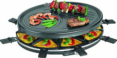 Raclette grill para 8 personas 1400 W color negro Clatronic RG 3517