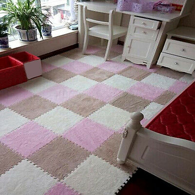 1× Soft Puzzle Floor Mat Tile Baby Kids Children Play Room Bedroom Decor Earnest